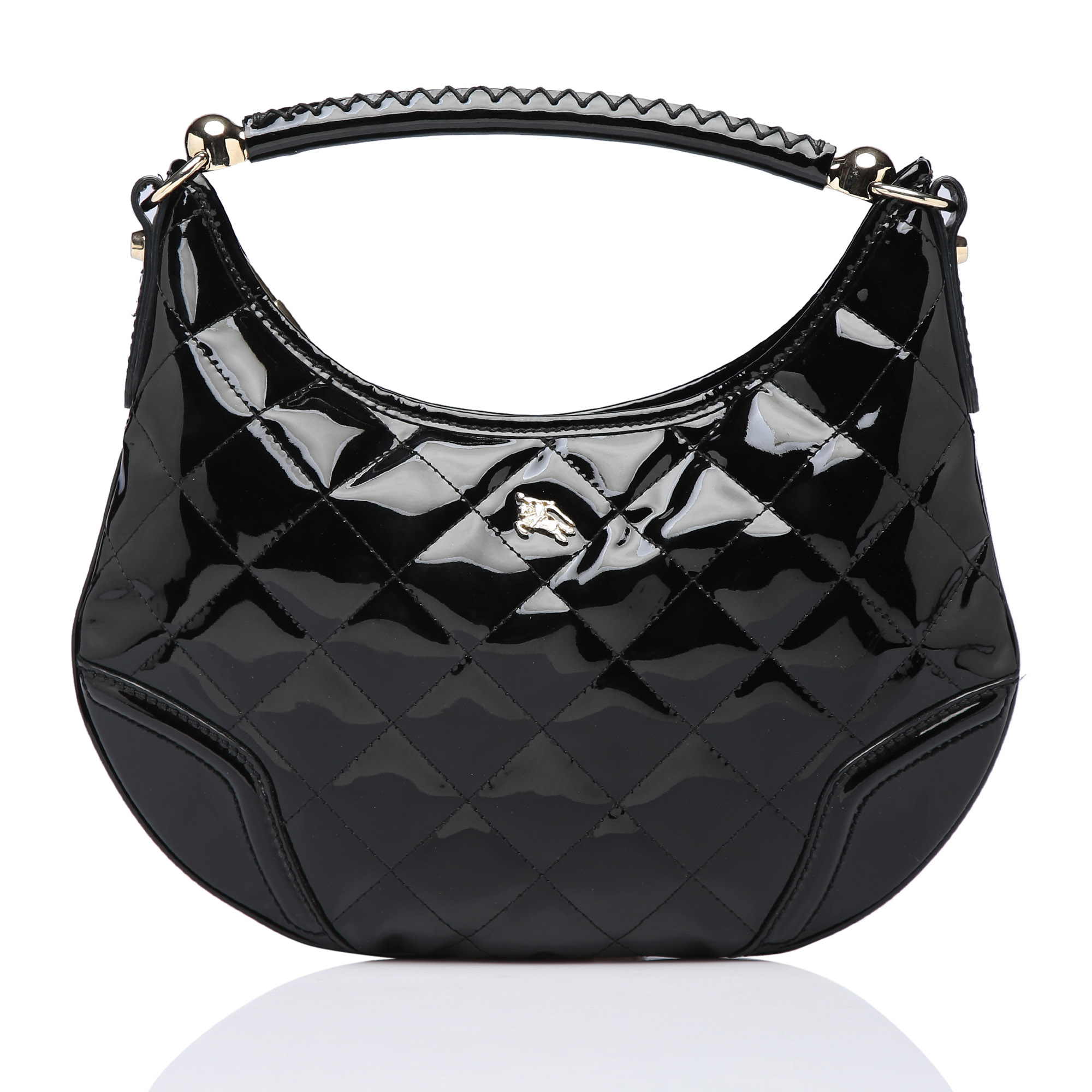 39310948f56b Burberry Black Patent Quilted Hoxton Hobo - My Luxury Bargain