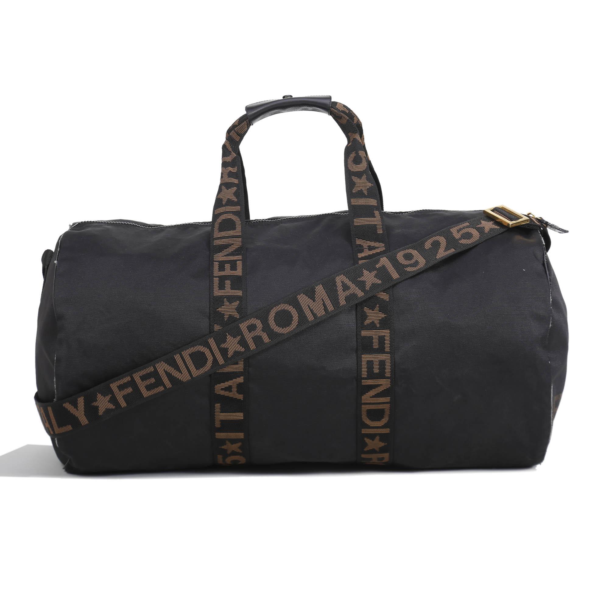 Fendi Black Nylon Carry-on Travel Bag - My Luxury Bargain bfdc3a6c9f95c