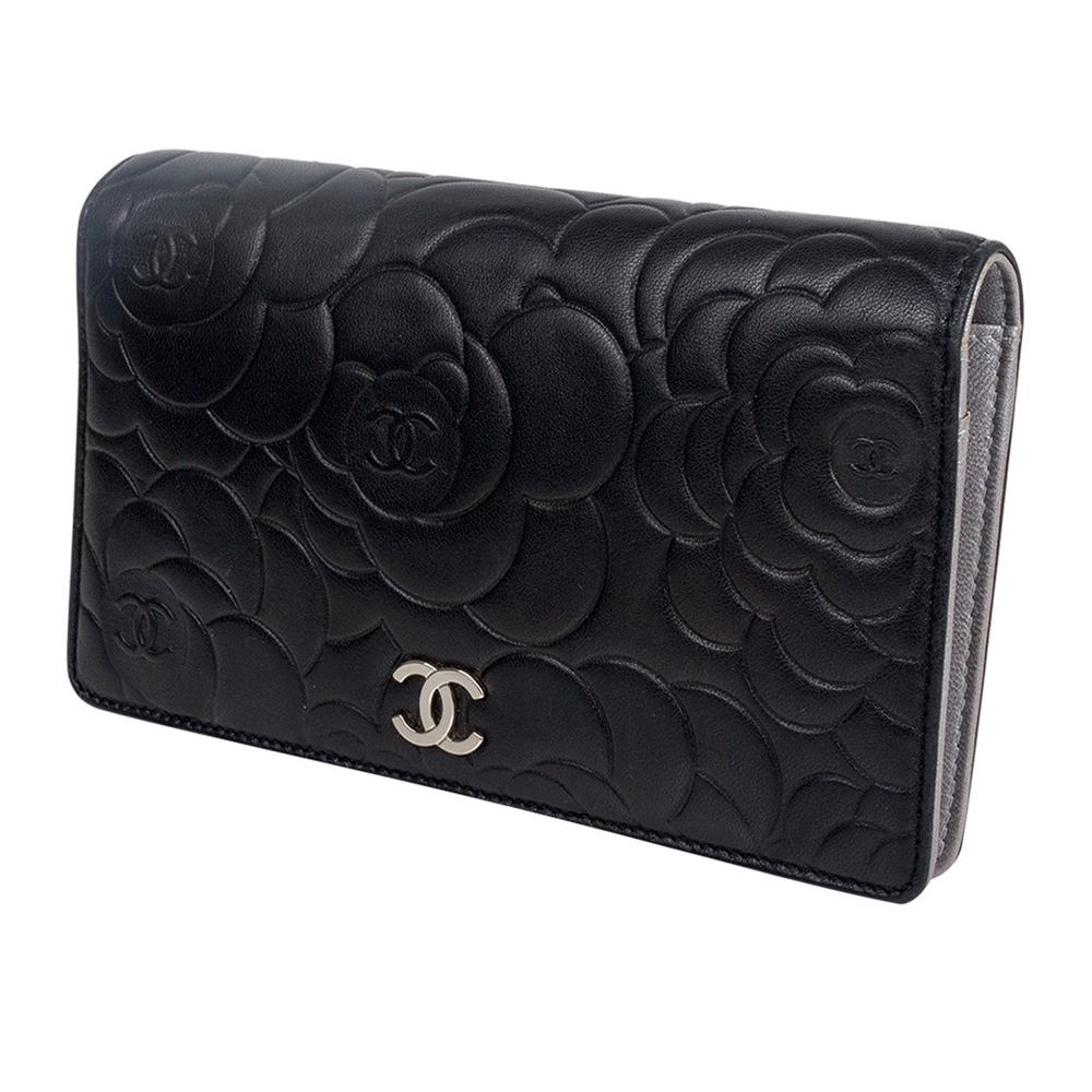 045a0a99e11b Chanel Black Leather Camellia Wallet | Stanford Center for ...