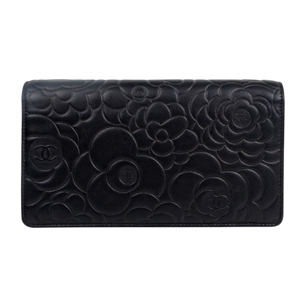 3284b580b2363f Chanel Black Leather Camellia Wallet | Stanford Center for ...