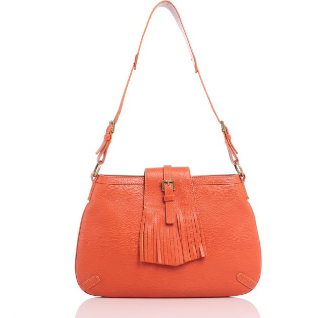 Shop Authentic Burberry Handbag Online india My Luxury Bargain Burberry Orange Leather Shoulder Bag