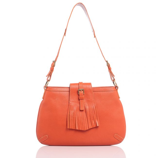 Shop Authentic Burberry Handbag Online india My Luxury Bargain Burberry Orange Leather Shoulder Bag