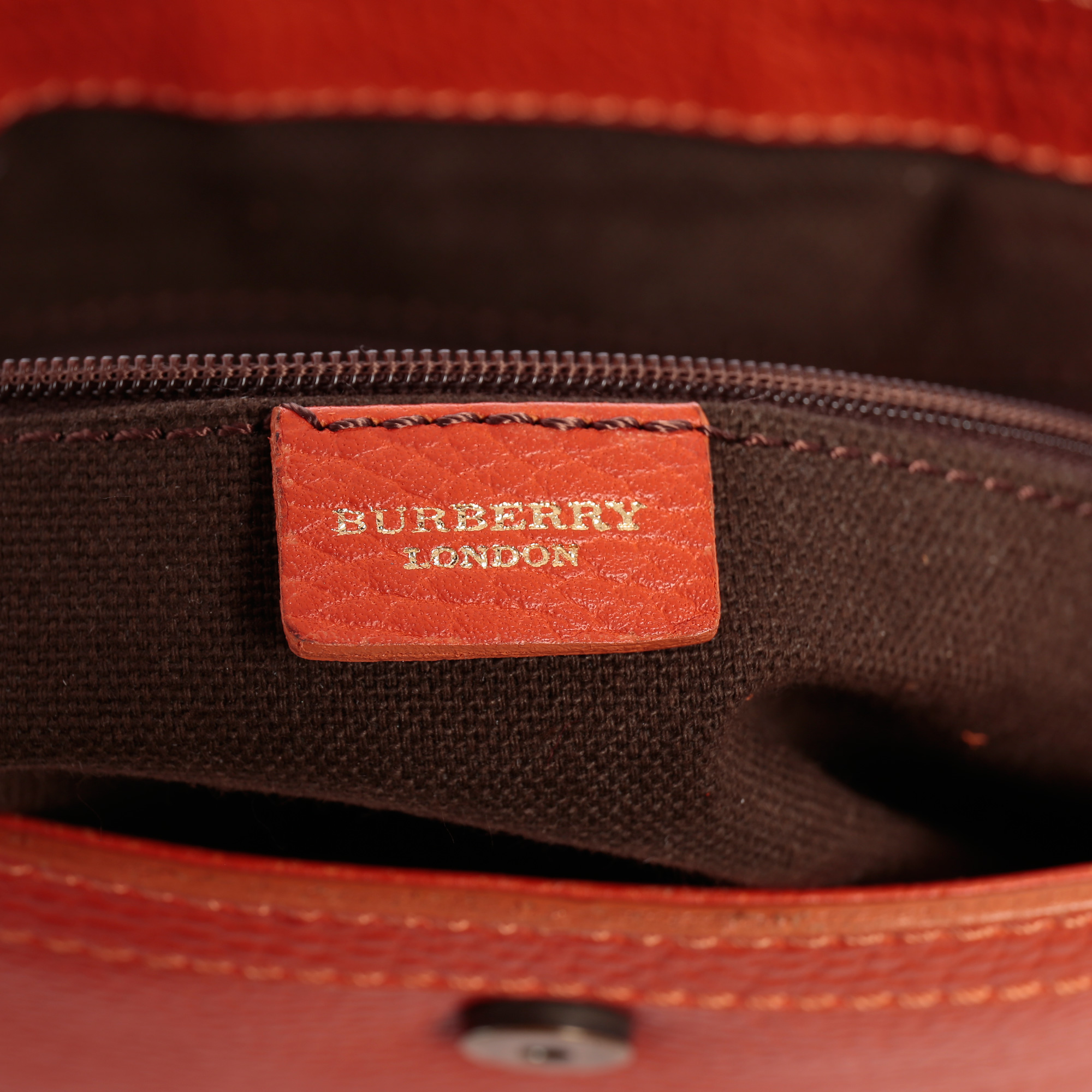 97ed12393cdf ... Shop Authentic Burberry Handbag Online india My Luxury Bargain Burberry  Orange Leather Shoulder Bag