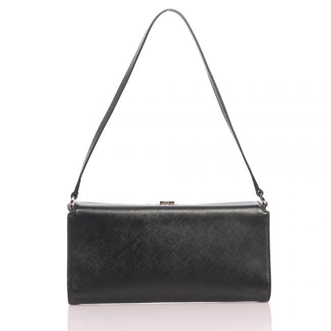 Shop Authentic Pre Owned Luxury Handbags On line India My Luxury Bargain Salvatore Ferragamo Black Calfskin Clutch
