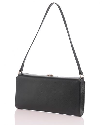 Shop Authentic Pre Owned Luxury Handbags On line India My Luxury Bargain Salvatore Ferragamo Black Calfskin Clutch