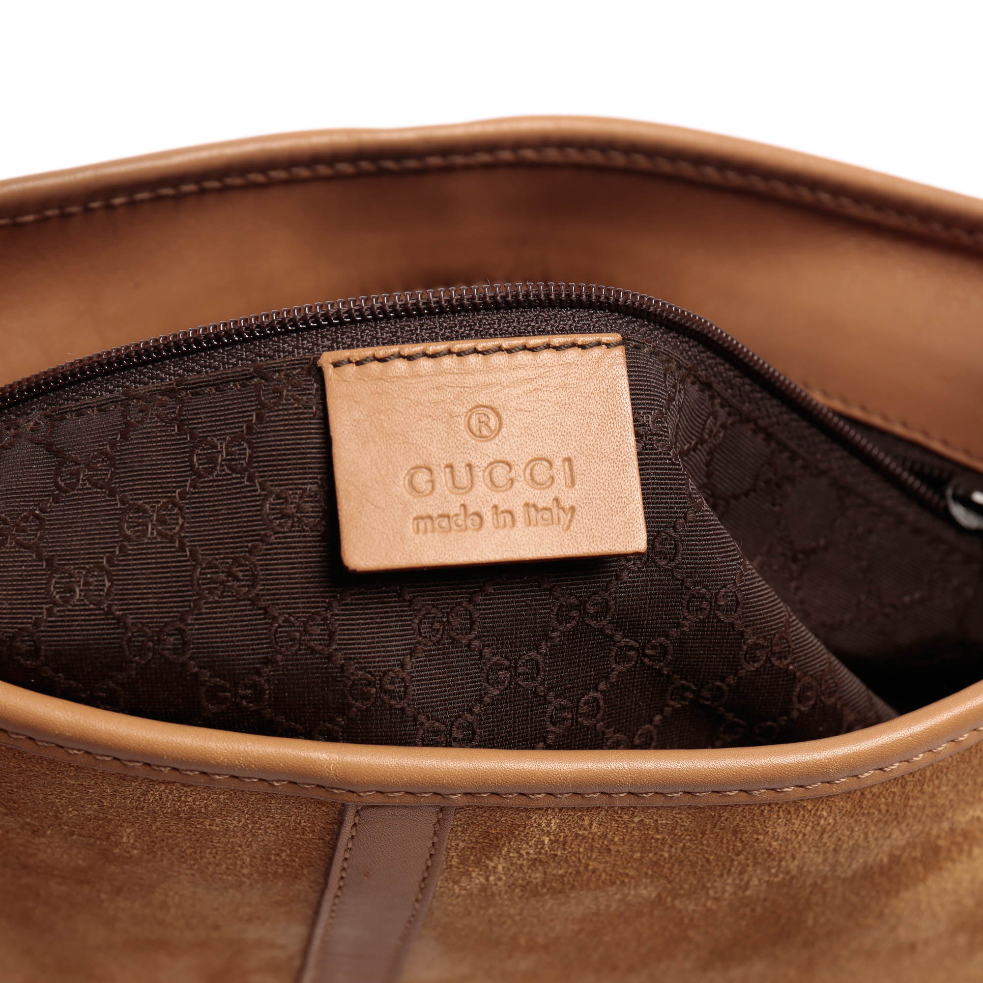 b125beed6 ... Shop Gucci Online India My Luxury Bargain Gucci Beige Leather Suede  Hobo bag