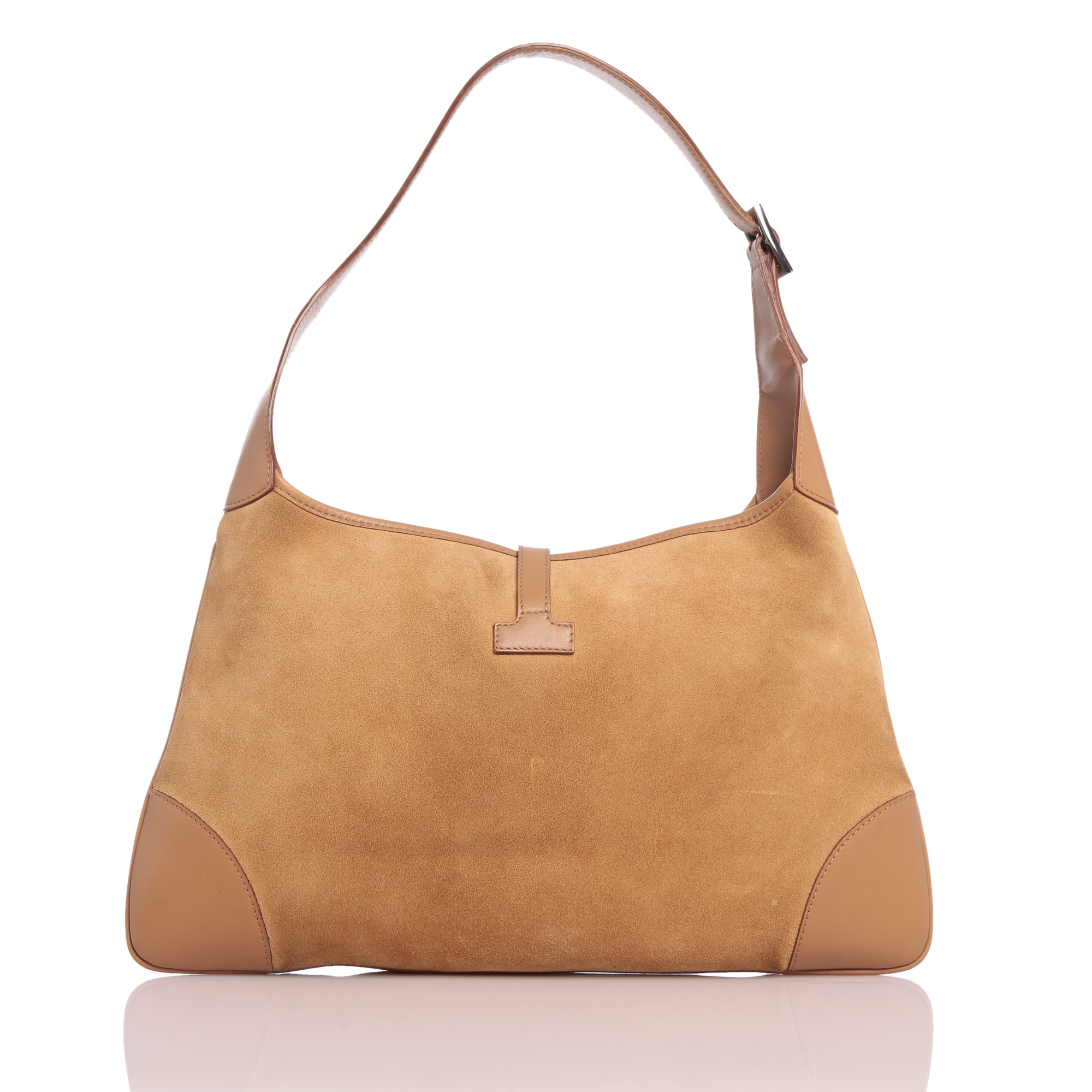 Gucci Beige Suede Large Jackie O Shoulder Bag - My Luxury Bargain