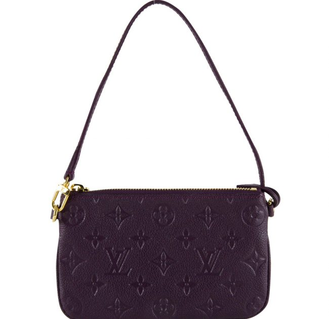 Shop Louis Vuitton bags India My Luxury Bargain LOUIS VUITTON PURPLE MONOGRAM EMPRIENTE POCHETTE