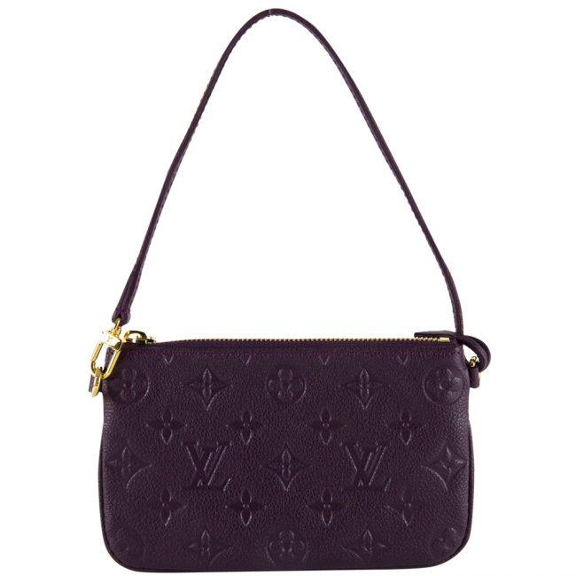 Shop Louis Vuitton bags India My Luxury Bargain LOUIS VUITTON PURPLE MONOGRAM EMPRIENTE POCHETTE