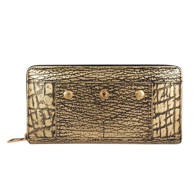 Shop Pre Owned luxury Wallets Online My Luxury bargain Metalic Gold Continental Wallet