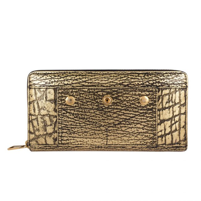 Shop Pre Owned luxury Wallets Online My Luxury bargain Metalic Gold Continental Wallet