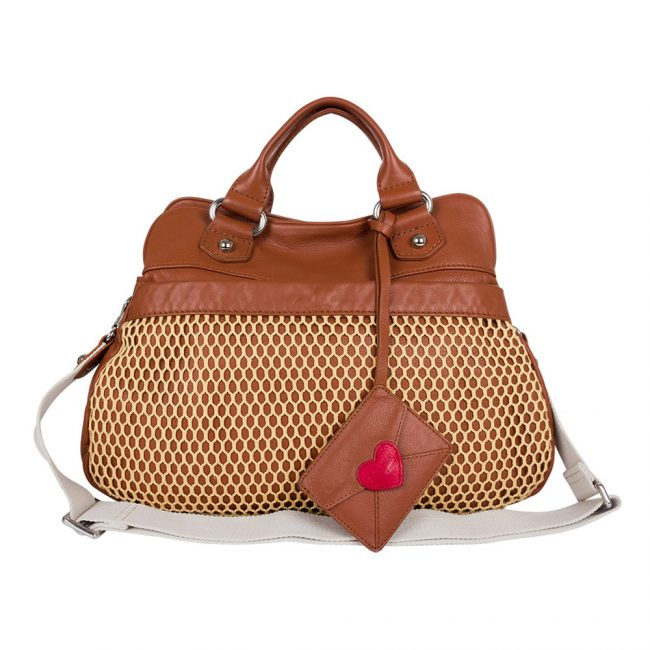 Pre owned Designer handbags My Luxury Bargain SONIA RYKIEL CABAS ZIPPE POP HEART SATCHEL BAG