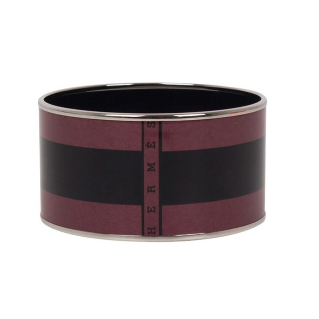 Shop Authentic Hermes India Online My Luxury Bargain HERMES PRINTED DUAL COLOR ENAMEL BRACELET