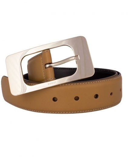 Shop authentic Gucci Online My Luxury Bargain GUCCI BROWN LEATHER BELT