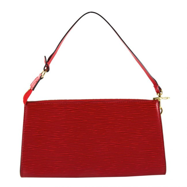 Buy Louis Vuitton Bags India My Luxury Bargain LOUIS VUITTON RED EPI LEATHER POCHETTE