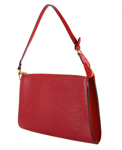 Buy Louis Vuitton Bags India My Luxury Bargain LOUIS VUITTON RED EPI LEATHER POCHETTE