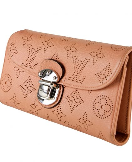 Louis Vuitton online shopping India My Luxury Bargain LOUIS VUITTON PEACH MONOGRAM MAHINA AMELIA WALLET