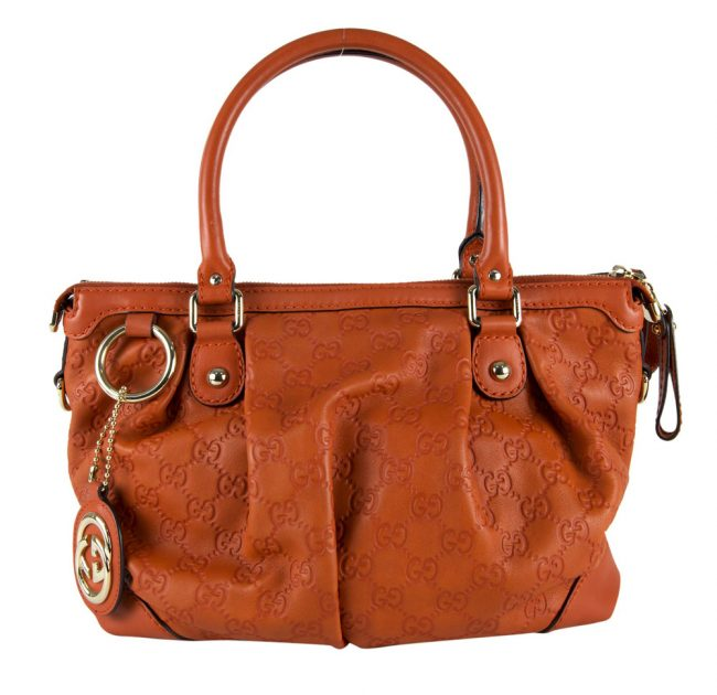 My Luxury Bargain Authentic Pre owned GUCCI in India ORANGE GUCCISSIMA LEATHER SUKEY BAG