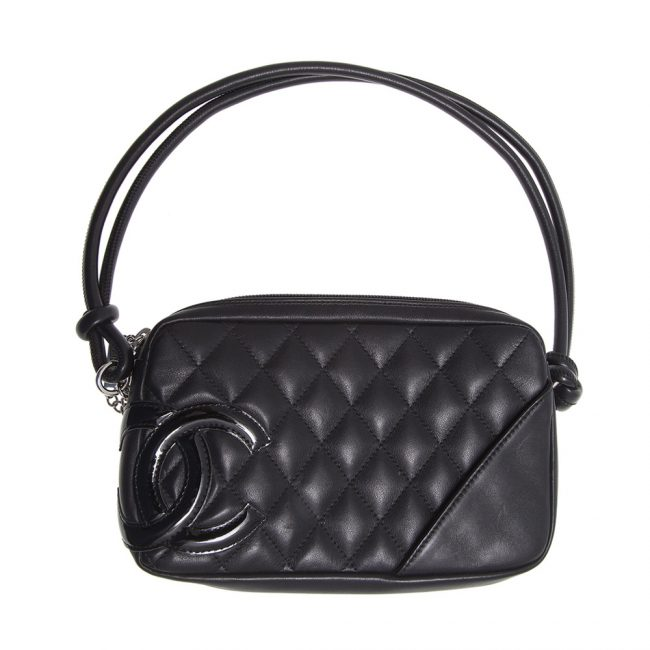 Shop Authentic Chanel Online In India My Luxury Bargain CHANEL BLACK QUILTED LEATHER CAMBON BOWLER BAG