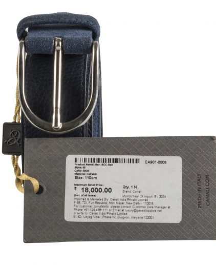 Online India My Luxury Bargain Canali Blue Reversible Belt