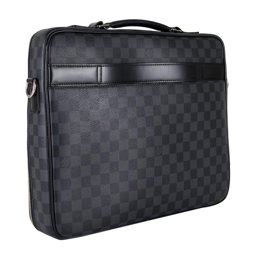 b90785c43d1 LOUIS VUITTON DAMIER GRAPHITE CANVAS STEVE LAPTOP BAG