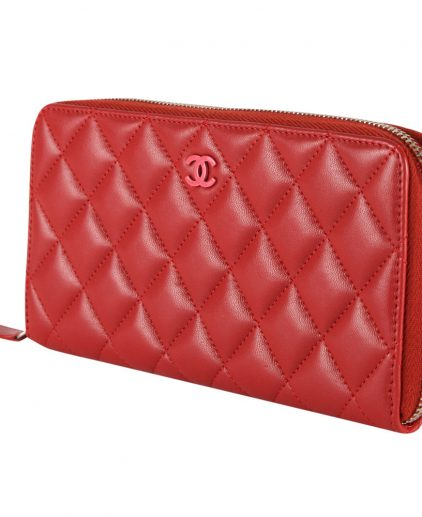 Shop Chanel Wallets Online India My Luxury Bargain Chanel Red Quilted Caviar Leather Large Zippy Wallet