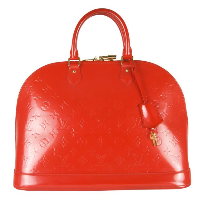Shop Louis Vuitton Handbags Online India My Luxury Bargain Louis Vuitton Orange Monogram Vernis Alma GM Bag