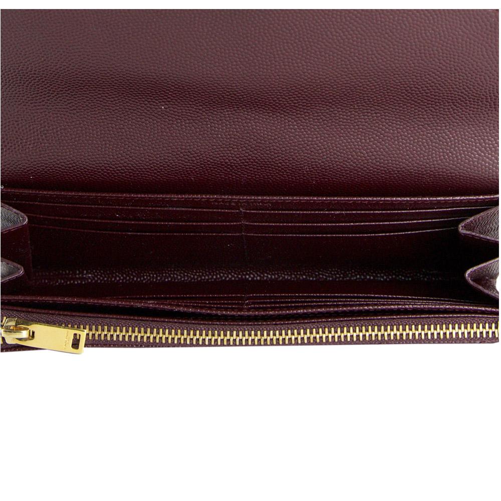 c9dc9c36cf39e ... Shop YSL wallets online India My Luxury Bargain Saint Laurent Paris  Maroon Leather Monogram Flap Wallet