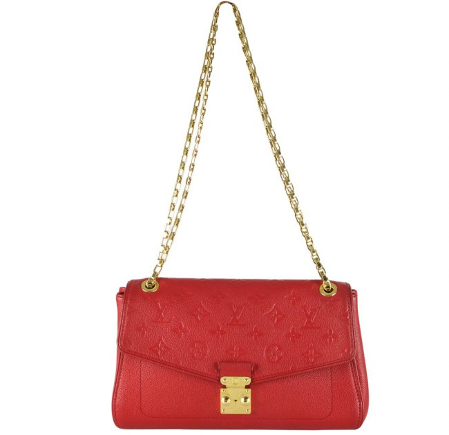 Buy Authentic Pre Owned Louis Vuitton Bags Online My Luxury Bargain LOUIS VUITTON SAINT GERMAIN CHERRY RED PM HANDBAG 3