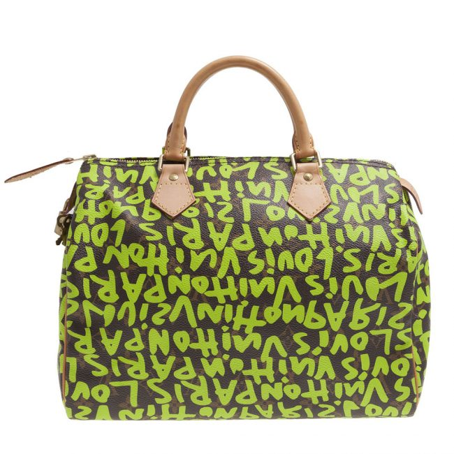 Louis Vuitton Limited Edition Stephen Sprouse Lime Graffiti Speedy 30
