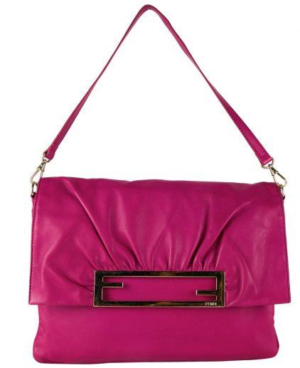 0c02396ca764 Fendi Fuchsia Napa Shoulder Handbag ...