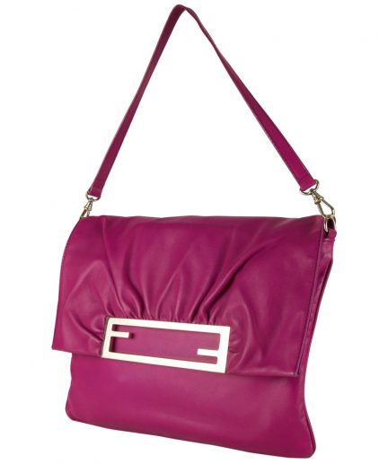 Fendi Fuchsia Napa Shoulder Handbag