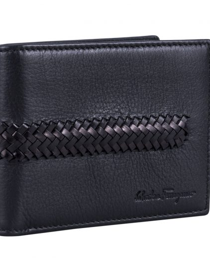 Salvatore Ferragamo Braided Leather Men's Wallet