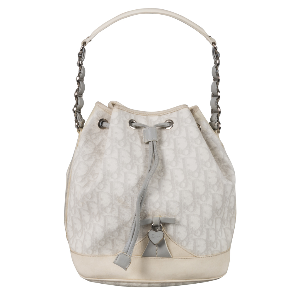 12976d85ca34 Dior Metallic Silver Micro Lady Bag 17131 At Best. Dior Diorissimo  Drawstring Bucket Bag My Luxury Bargain