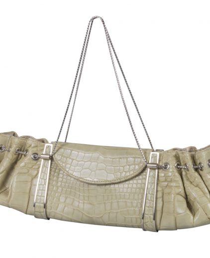 Judith Leiber Exotic Leather Evening Shoulder Handbag