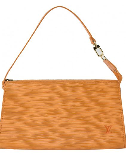 Louis Vuitton Orange Pochette Handbag