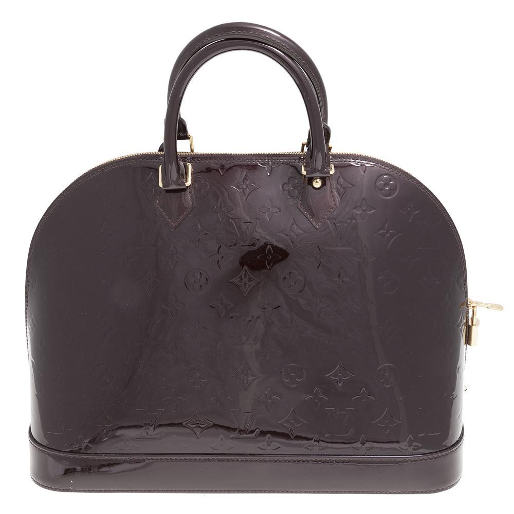 ca090c3e810e Louis Vuitton Monogram Vernis Alma GM Handbag