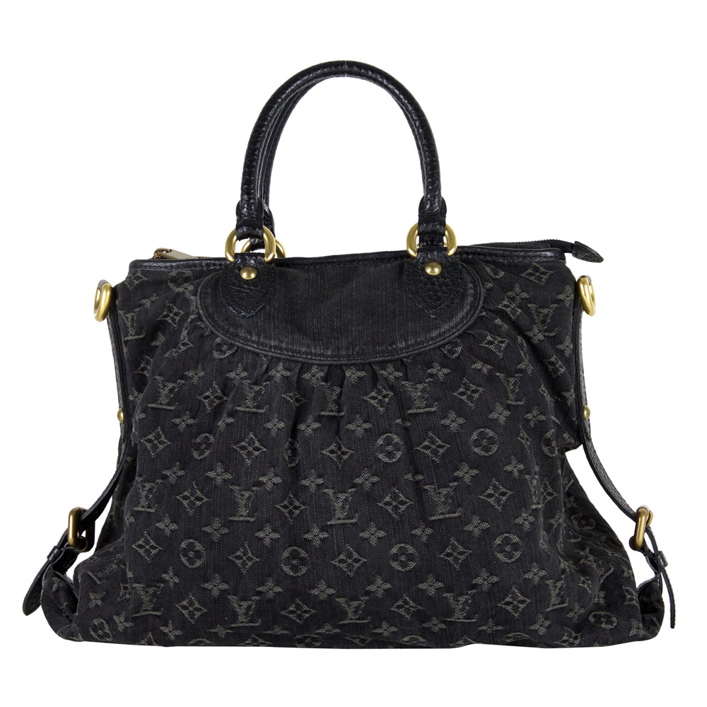 fe8ab5036023 Louis Vuitton Black Monogram Denim Neo Cabby GM Handbag