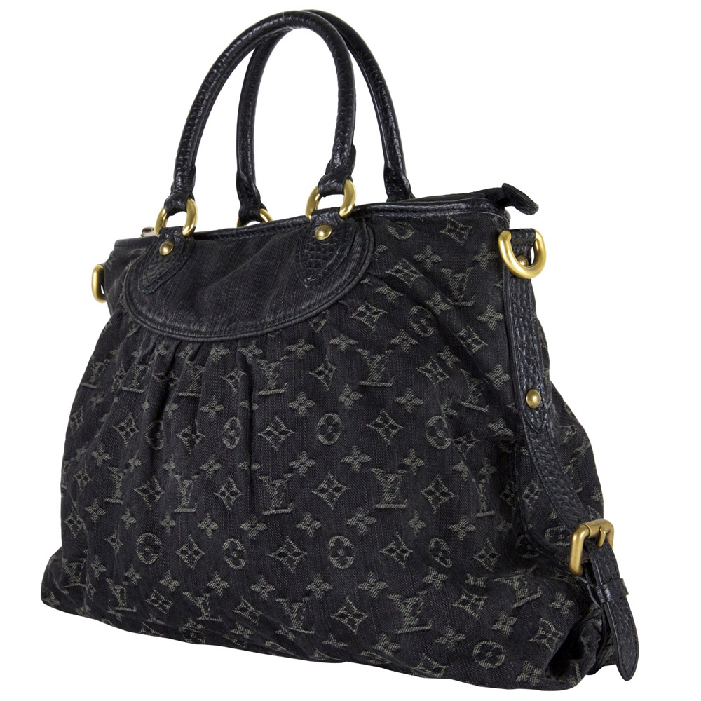 77cec19092ab Louis Vuitton Black Monogram Denim Neo Cabby GM Handbag