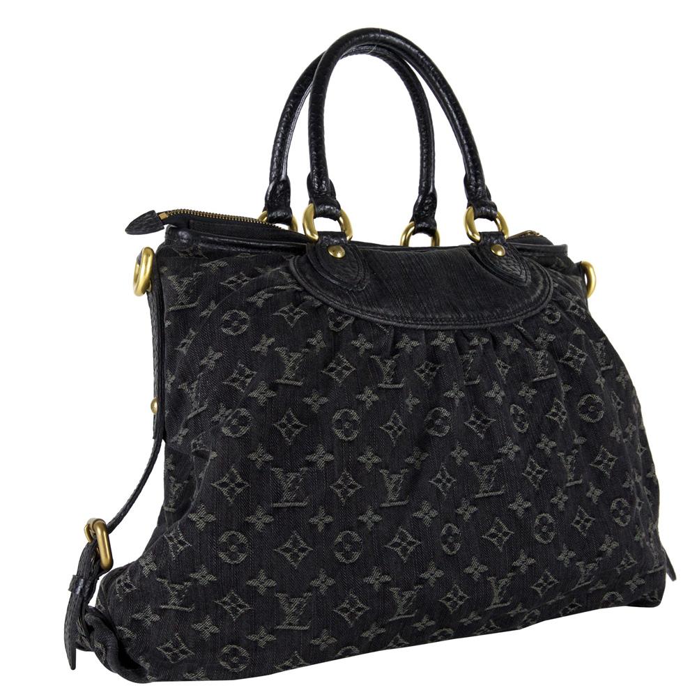 Louis Vuitton Black Monogram Denim Neo Cabby GM Handbag 360de8179a0d4