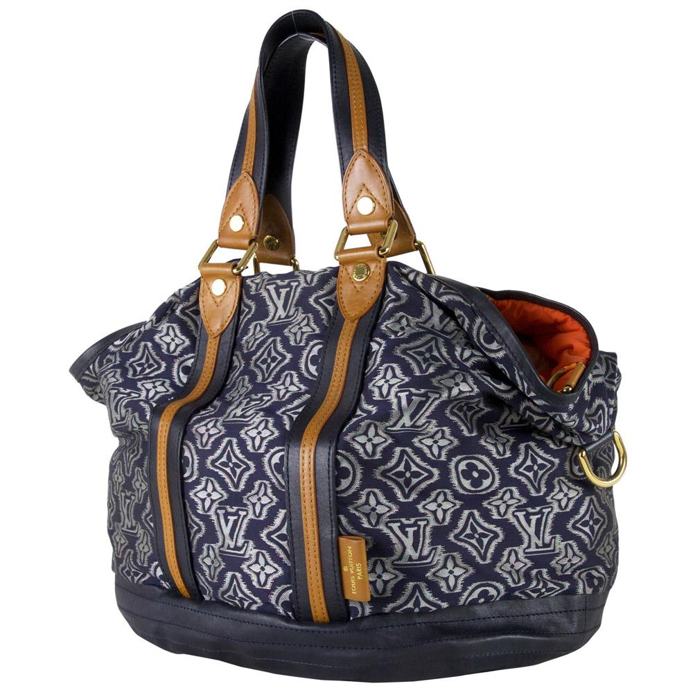 17386293423d Louis Vuitton Limited Edition Prefall 2010 Aviator Bag Marine