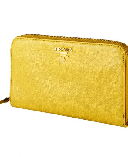 Prada Yellow Side Zip Wallet