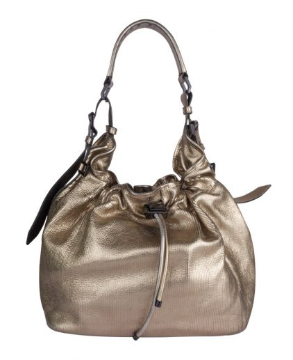 Burberry Metallic Drawstring Hobo