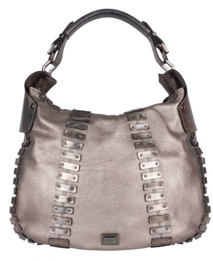 Burberry Metallic Grey Hobo
