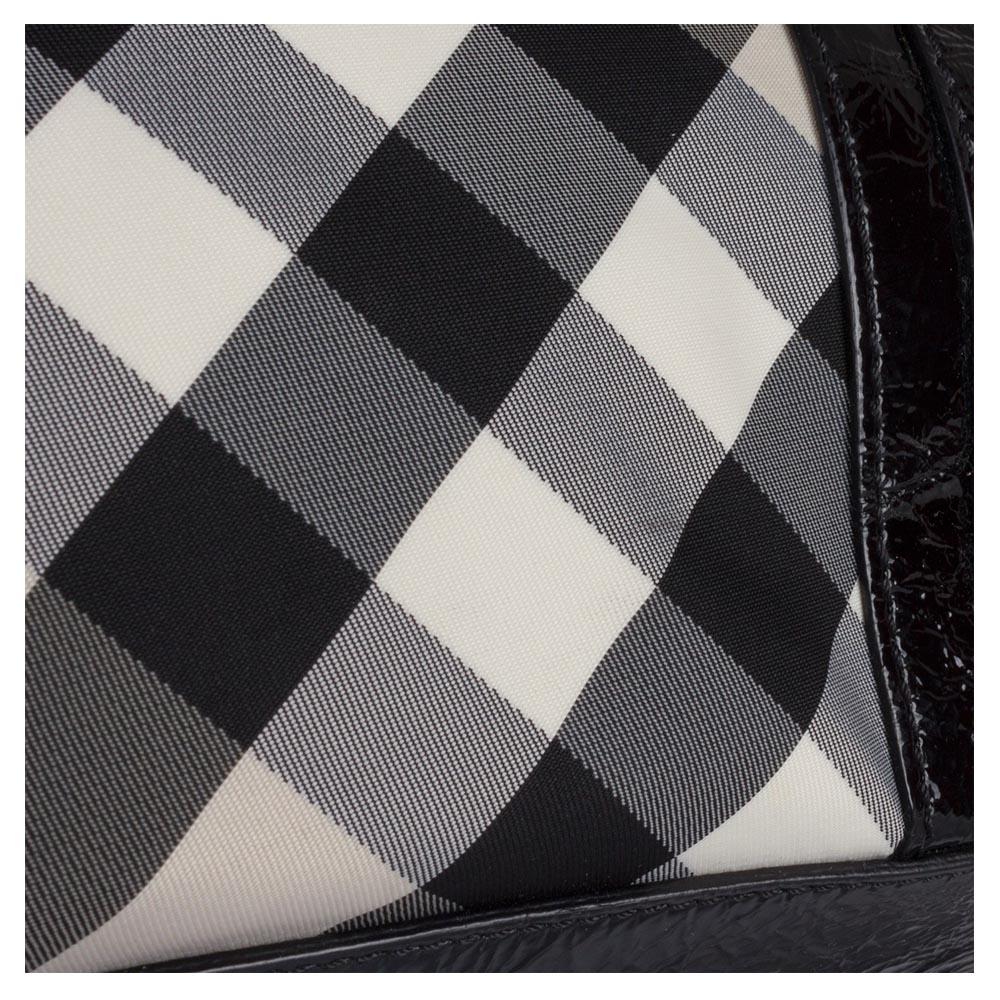 74b31f8d6 Burberry Black Beat Check Nylon Lowry Tote Handbag
