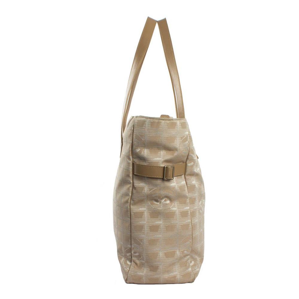 b602f70bb4ef Chanel Large Travel Linen Tote Bag