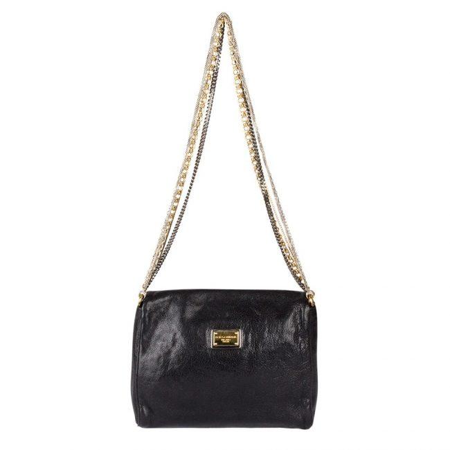 Dolce Gabbana Black Shoulder Bag