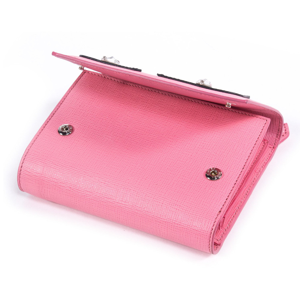 5fa87ccdc15b Fendi Crayons Pink Leather Wallet