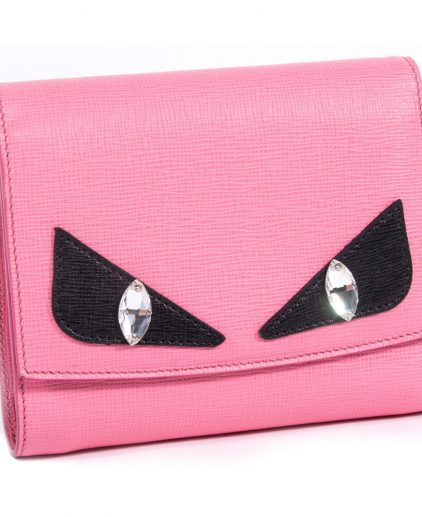 Fendi Crayons Pink Leather Wallet