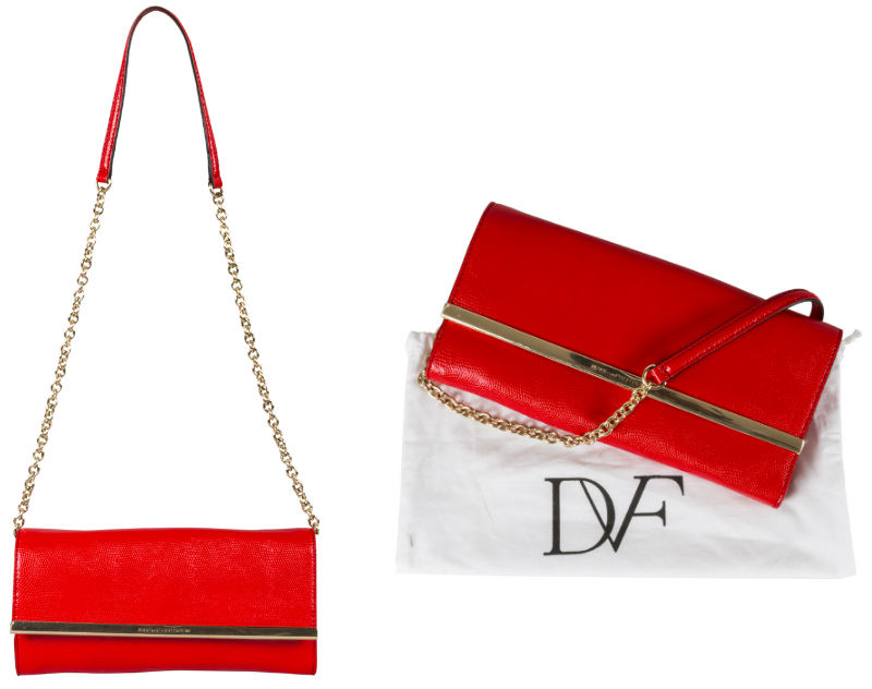Diane Von Furstenberg Red Clutch